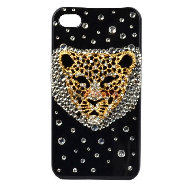 Mobile phone shell deco: Leopard head material package