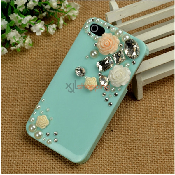 Mobile phone shell deco: Efreshing jewel flower material package