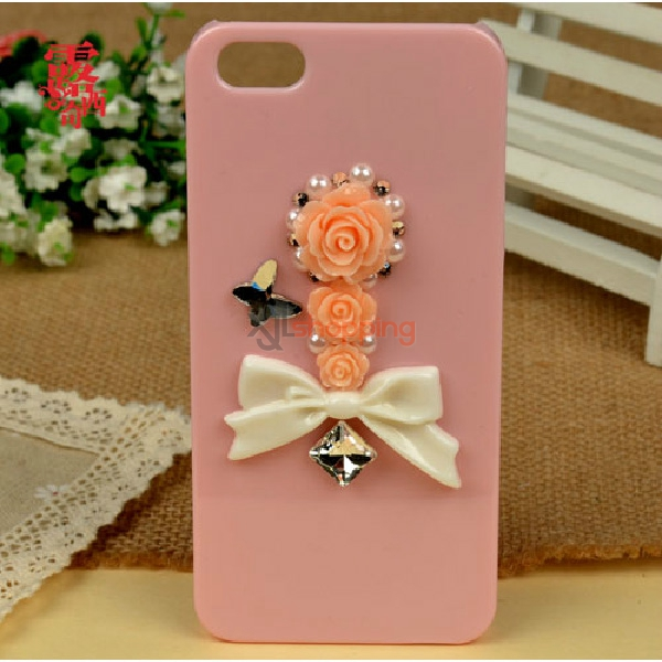 Mobile phone shell deco: Resin bowknot flower material package