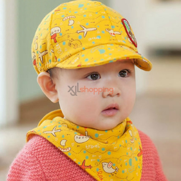 Infant baseball hat + bibs suits