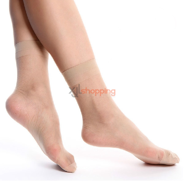 [5pcs]Ms. ultrathin transparent Core wire short stockings, women socks stealth short stockings