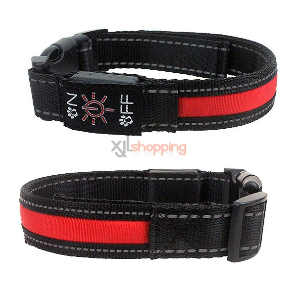 LED flash luminous pet dog cat collar, luminous dog collar neckband large and small dogs Out & About