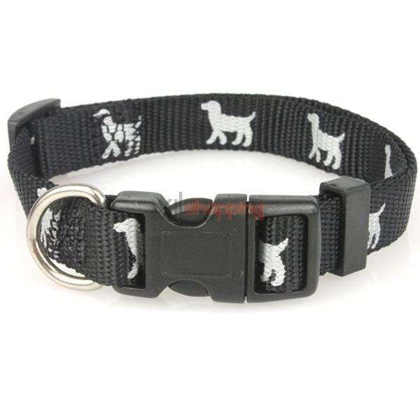 Nylon pet collars, cat and dog footprints reflective bones, small dog pet supplies
