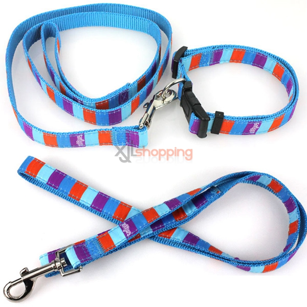 Small dogs durable pet dogs and cats Expensive Bin Taidi collars collars dog collar traction rope pull chain[M]