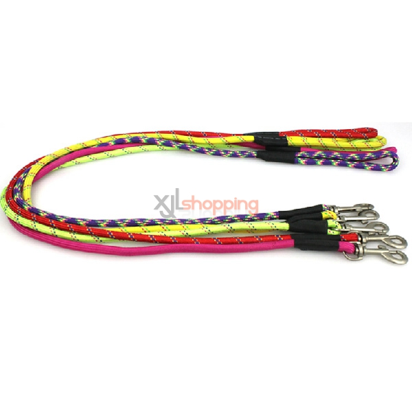 Dog traction rope, small dog leash dog Teddy nylon rope traction belt pets cat collars, pet supplies [Traction rope + collars]