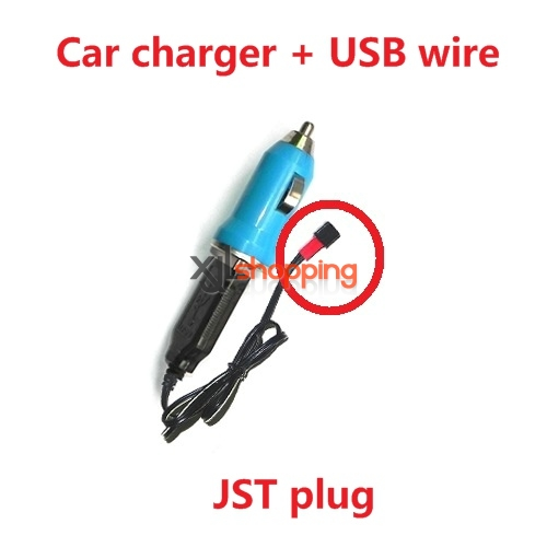 Car charger + USB charger wire (JST plug)