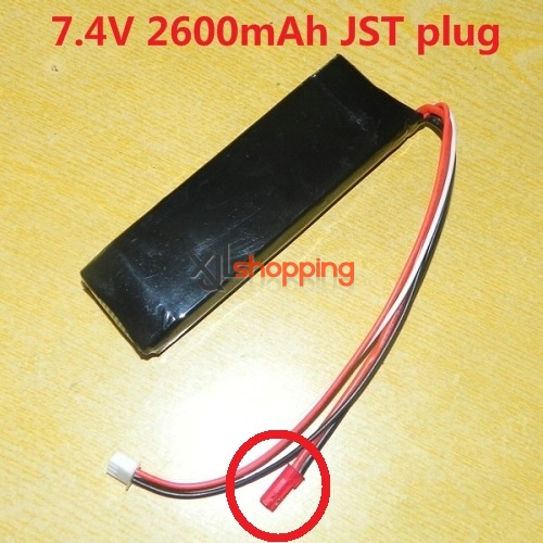 7.4V 2600mAh battery (JST plug)