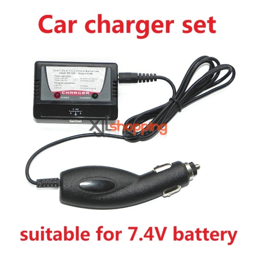 7.4V Car carger set (For 7.4V battery)