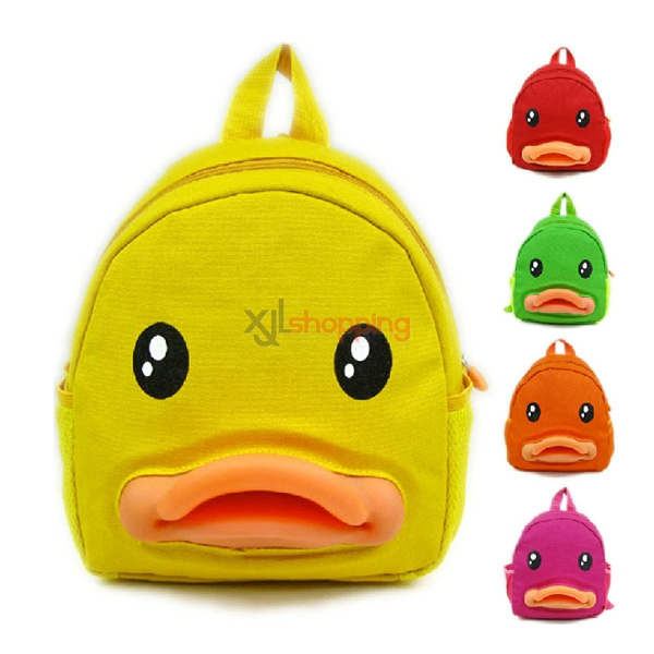 Children's cartoon duck small double shoulder bag