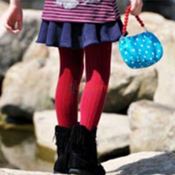 Striped yarn pantyhose for children