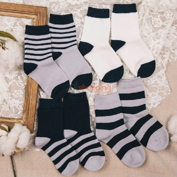 Boys absorbent, breathable pure cotton socks