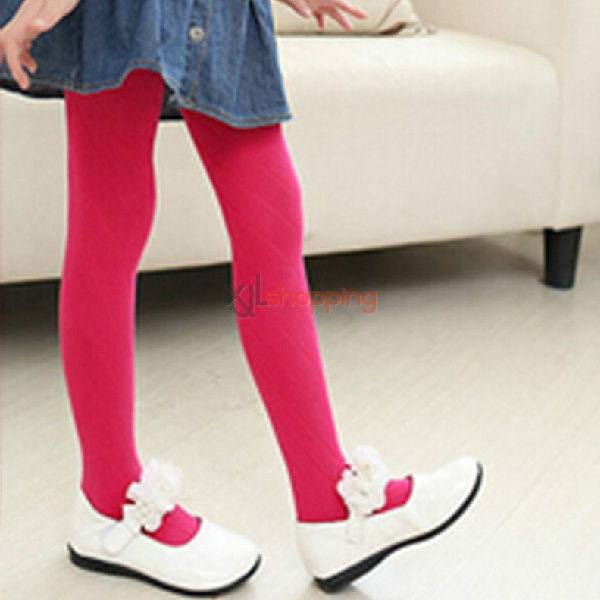 Children diagonal stripes pantyhose