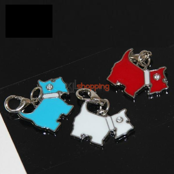 Schnauzer shaped Stainless steel dog tag(random color)【3pcs】