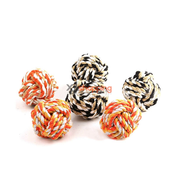 pet cotton rope woven ball【3pcs】(random color)