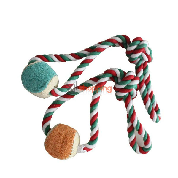 loofah + pet teeth cleaning cotton rope toys【3pcs】