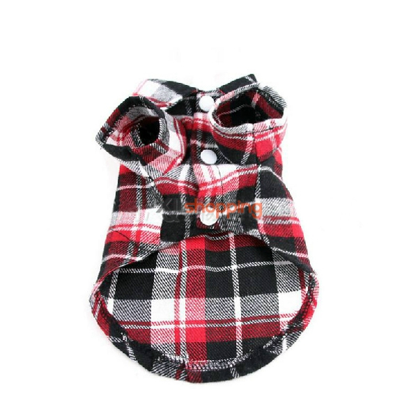 Pet casual plaid dress