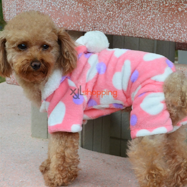 Pink Peach Heart dog clothes
