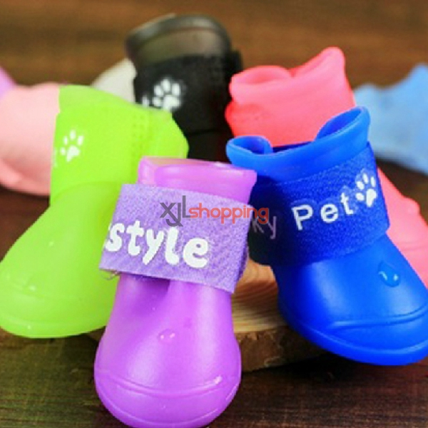 Jelly color pet shoes