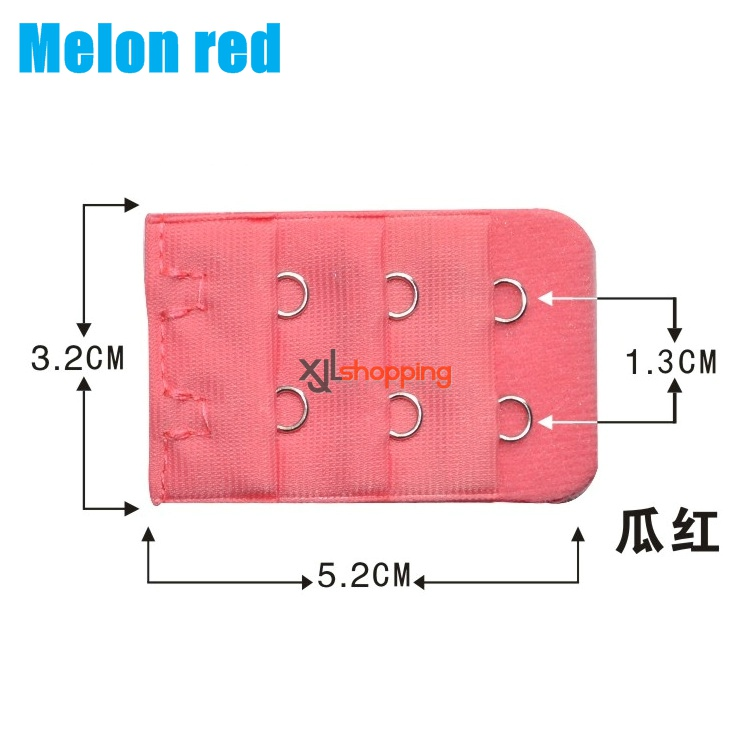 5 pcs 3.2*5.2cm Bra lengthened buckle connecting buckle (3 rows of 2 buckles )