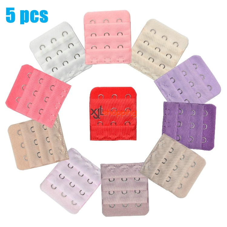 5 pcs 4.5*5.2cm Bra lengthened buckle connecting buckle (3 rows of 3 buckles )